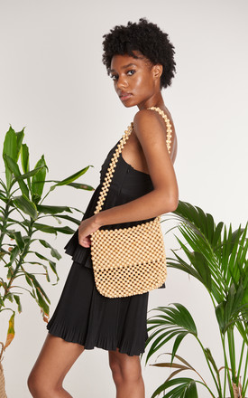 Eva Mango Wood Handmade Beaded Summer Shoulder Bag by ellyla -ethical & eco friendly accessories