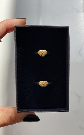 BFF Gold Pinky Rings 18k Gold Plated by Gold Lunar