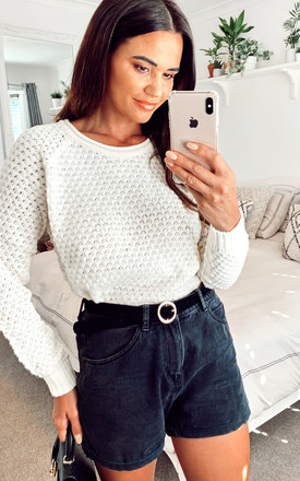 Textured Knit Jumper in Cream by VM