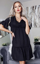 Doni Black V Neck Tierred Smock Dress by Missfiga