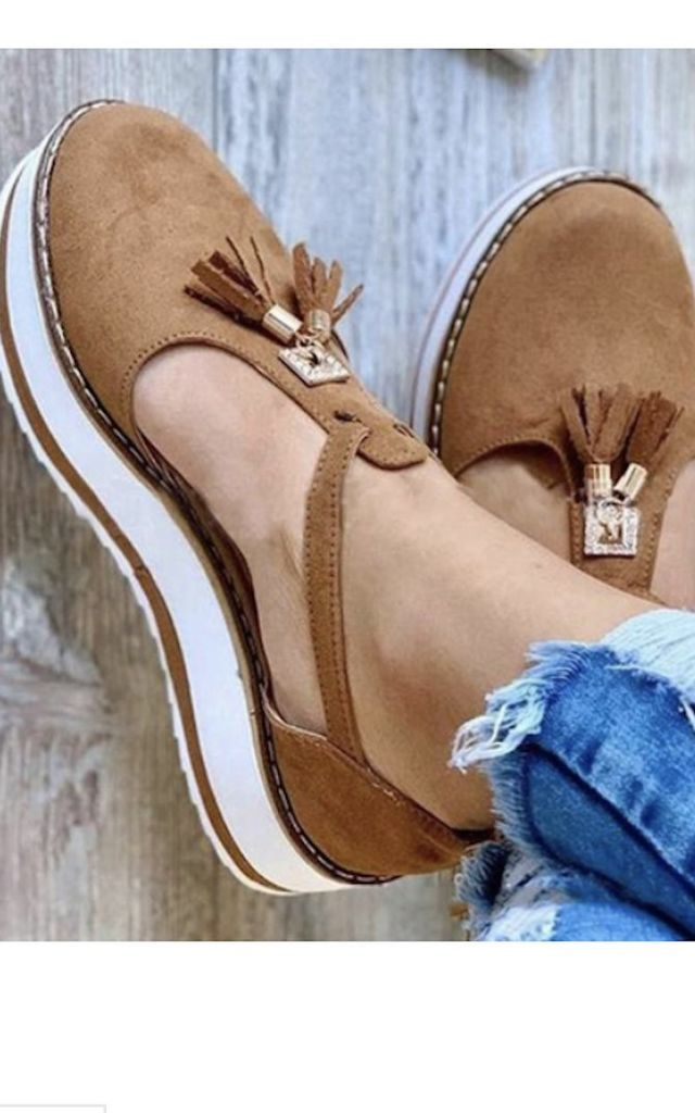 Chelsea Tan Tassel Sandal by Want That Trend