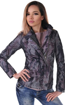 Classy & Elegant Light Jacket in Purple & Multicolour, Perfect for Autumn, Fall by Malanna Fashion