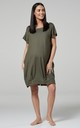 Women's Maternity Labor Delivery Hospital Gown Breastfeeding in Khaki by Chelsea Clark