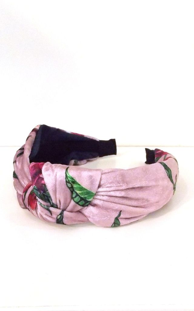 Pink Floral Knot Headband by Olivia Divine Jewellery