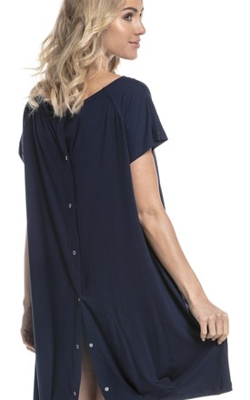 Women's Maternity Labor Delivery Hospital Gown Breastfeeding in Navy by Chelsea Clark