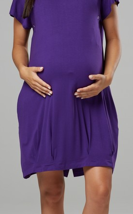 Women's Maternity Labor Delivery Hospital Gown Breastfeeding Plum by Chelsea Clark