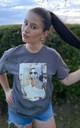 Audrey ICONS Printed Grey T-Shirt by Love Lusso