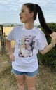 Audrey ICONS Printed White T-Shirt by Love Lusso