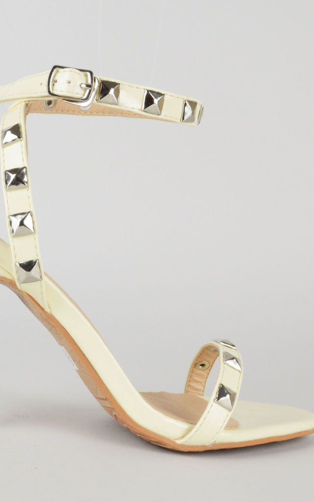 Cream sandals with stud detail by LOVEMYSTYLE
