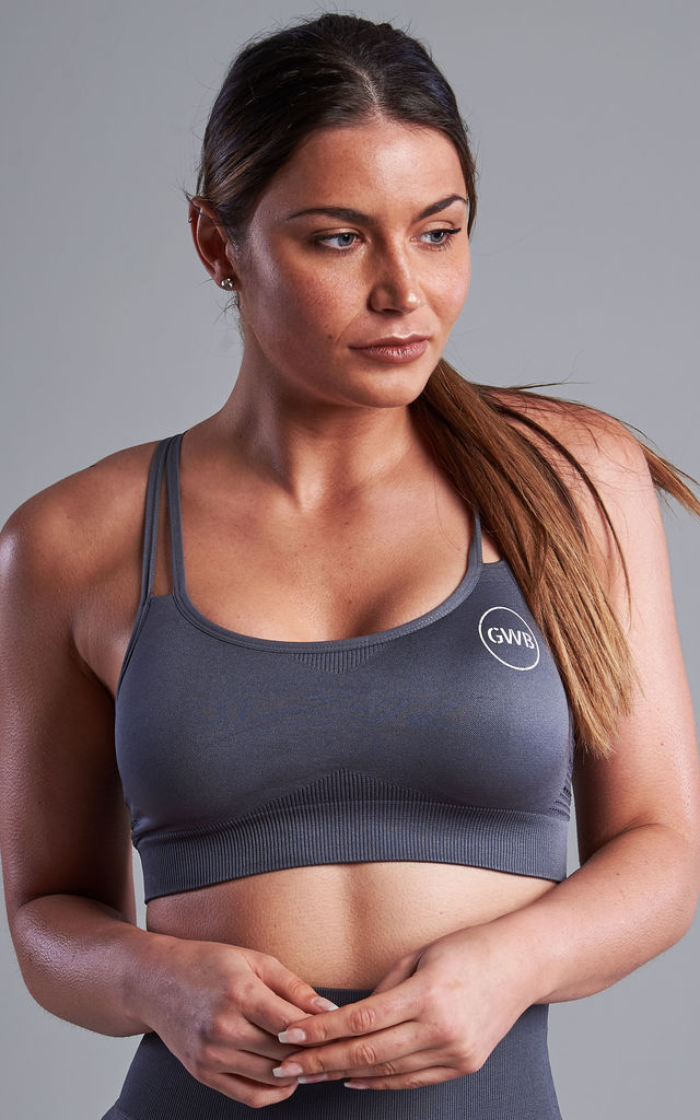 The Capella Bra Top in Grey by The Gym Wear Boutique