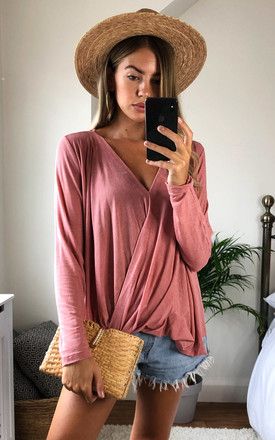 Ash Rose Long Sleeve Wrap Top by VILA Product photo