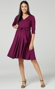 Maternity Nursing Midi Dress Plum 609 by Chelsea Clark