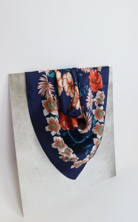 Blue floral neck scarf by Unscripted