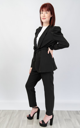 Relaxed Fit Two Piece Suit (BLACK) by Lucy Sparks