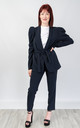 Relaxed Fit Two Piece Suit (NAVY) by Lucy Sparks