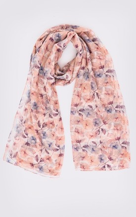 Women's Lightweight Floral Head Scarf in Pink Print by Diamantine