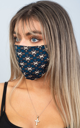 Face Masks (PACK OF 5) (TEAL GRID) by Lucy Sparks