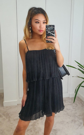 Black Pleated Wide Leg Playsuit by GIGILAND UK