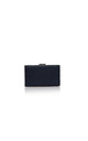 Navy Diamante Encrusted Satin Evening Clutch Bag by Perfect Shoes