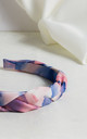 Tie Dye Plaited Headband in Pink & Lilac by Farrow Low
