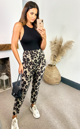 Leopard Print Jogger Trousers by Malissa J Collection