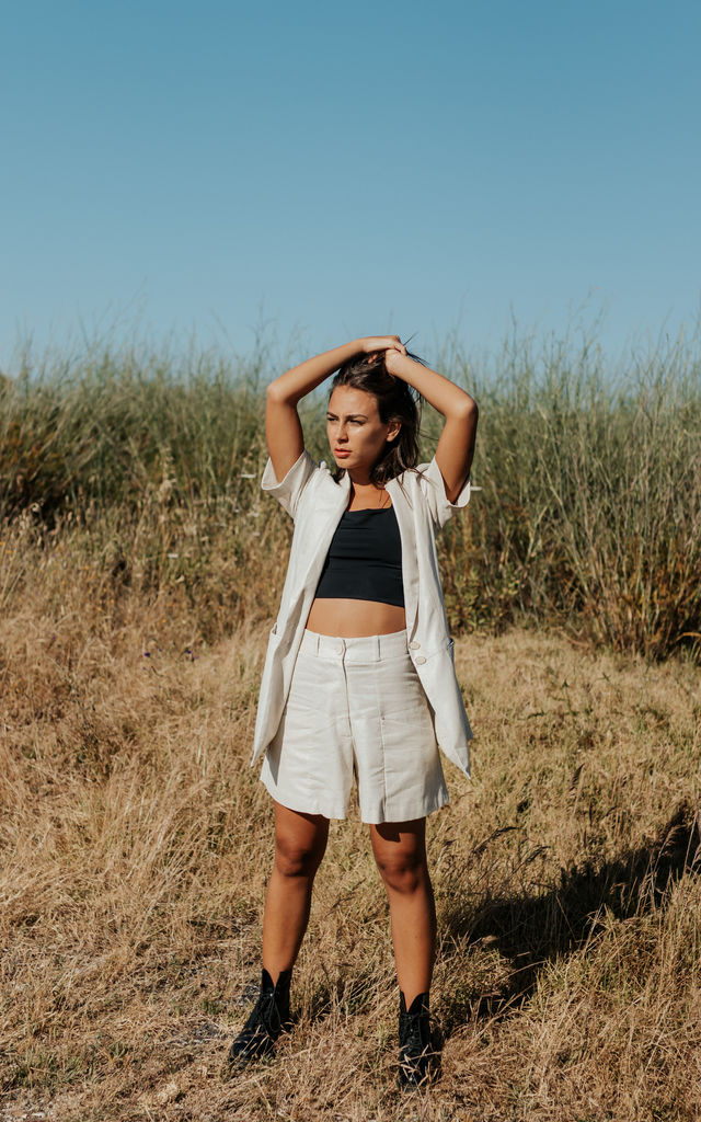 Lotus Linen Smart Shorts by Carsi Collection