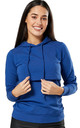 Women's Nursing Hoodie Breastfeeding Sweatshirt Top Maternity Blue by Chelsea Clark