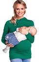 Women's Nursing Hoodie Breastfeeding Sweatshirt Top Maternity Bottle Green by Chelsea Clark