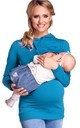 Women's Nursing Hoodie Breastfeeding Sweatshirt Top Maternity Cyan by Chelsea Clark