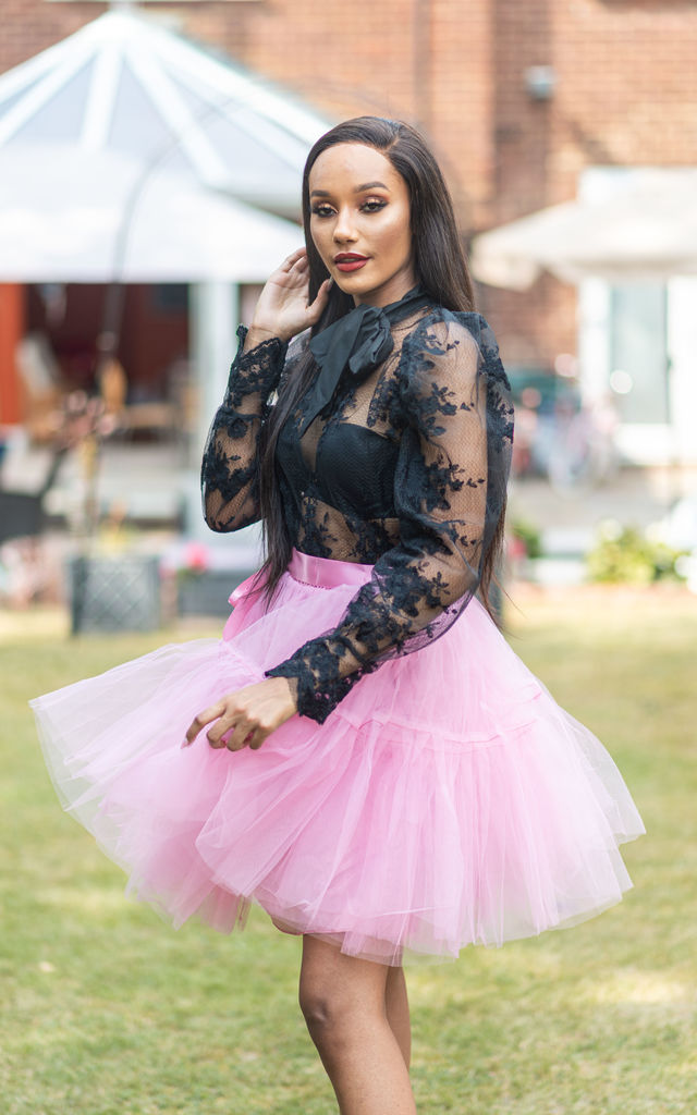 BRADSHAW PINK 5 LAYERS TULLE SKIRT by IVY EKONG FASHION