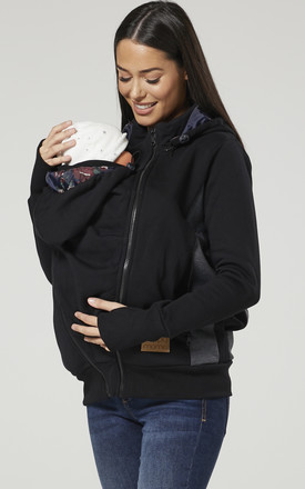 Women's Maternity 3 in 1 Hoodie Carrier Baby Holder Pullover by Chelsea Clark