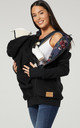 Women's Maternity Hoodie Zipped Carrier Baby Holder Pullover Black by Chelsea Clark
