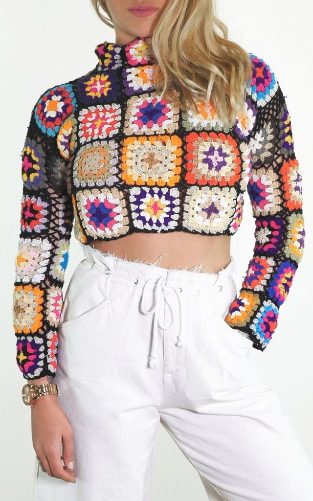 EDIE CROCHET CROPPED JUMPER by Out of the Ordinary