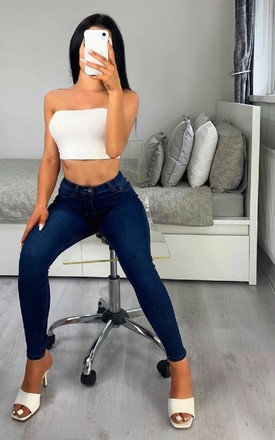 Laura Skinny Jeans in Stonewash by IKRUSH