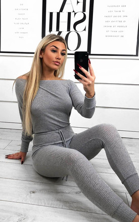 Silver Knitted Long Sleeve Jumpsuit by AX Paris