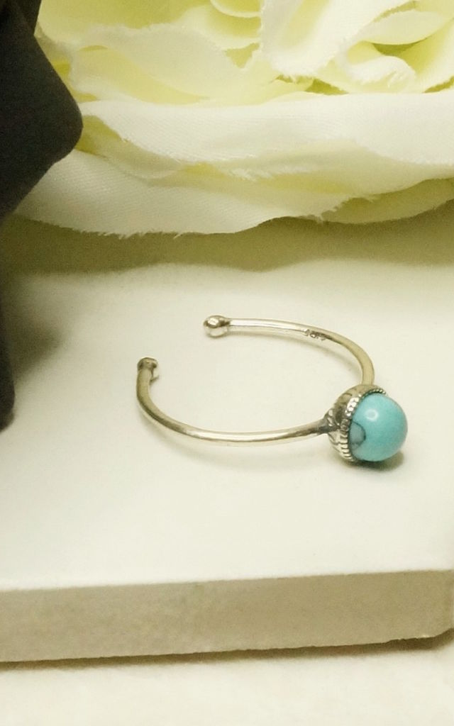 Turquoise stone sterling silver bohemian ring by EPITOME JEWELLERY