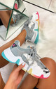 Clio Chunky Trainers in Grey by Larena Fashion