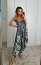 Grey Saints Tie Dye Bleach Maxi Jumpsuit by GIGILAND UK