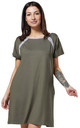 Women's Labor Delivery Hospital Gown Breastfeeding Maternity Colour: Khaki by Chelsea Clark