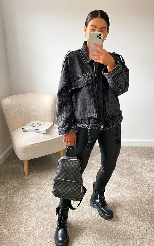 Willow Denim Jacket in Black by IKRUSH