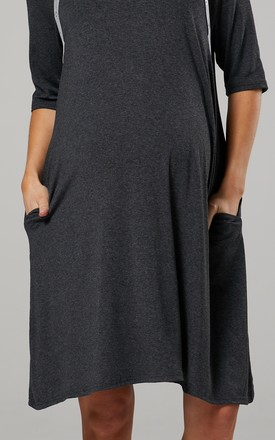 Women's Maternity Nursing Delivery Hospital Gown Nightwear Graphite Melange by Chelsea Clark