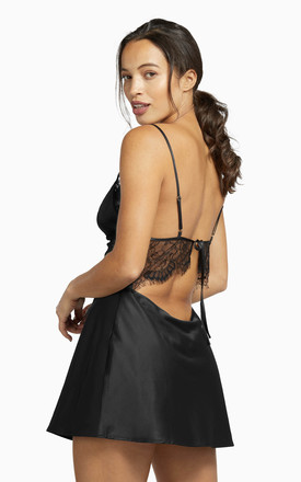 Helena Triangle Lace Slip Night Dress by Wolf & Whistle