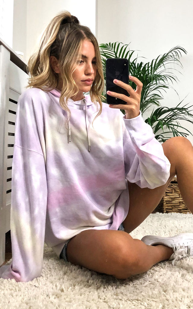 Multi Tie Dye Long Sleeves Oversized Hoodie by MISSTRUTH