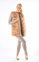 Mila - Panel Faux Fur Gilet In Stone by Pinstripe