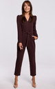Brown Jumpsuit with a Buckle Belt by MOE