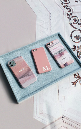 Personalised nude tones block colour phone case by Rianna Phillips