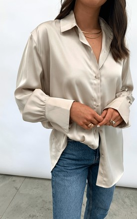 Naomi Relaxed Shirt   Taupe by Pretty Lavish Product photo