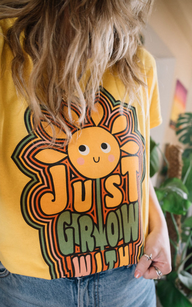 Just Grow With It Women's Slogan T-Shirt by Batch1