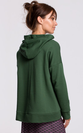 Kangaroo Pocket Hoodie in Green by MOE