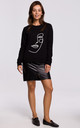 Black Sweatshirt with Print in Front by MOE